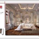 Mẫu nội thất phòng ngủ VIP 3 biệt thự lâu đài 3 tầng mặt tiền rộng tại Quảng Ninh sh btld 0027