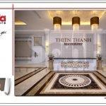 Thiết kế quầy lễ tân nhà hàng 2 tầng kiến trúc Pháp sang trọng tại Phú Quốc sh bck 0045
