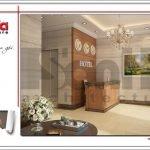 Thiết kế sảnh chính khách sạn mini kiến trúc Pháp tại Hải Phòng sh ks 0039