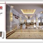 Thiết kế sảnh lễ tân nhà hàng 2 tầng kiến trúc Pháp sang trọng tại Phú Quốc sh bck 0045