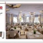 Mẫu thiết kế nội thất nhà hàng 2 tầng kiến trúc Pháp sang trọng tại Phú Quốc sh bck 0045