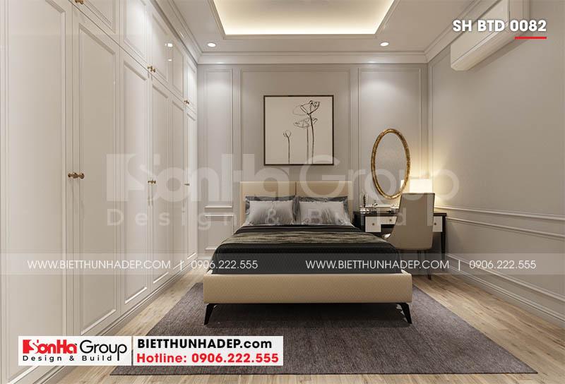 Nội thất phòng ngủ ấm áp trong thiết kế biệt thự mini tại Hải Phòng