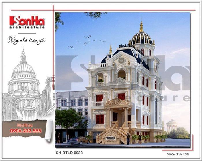Công trình xây dựng thiết kế và thi công biệt thự lâu đài tại Bắc Ninh bởi SHAC