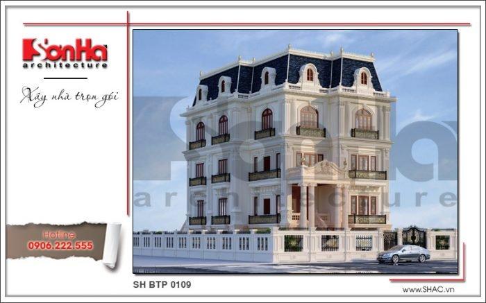 Góc view mẫu kiến trúc biệt thự Pháp đẹp tại Sài Gòn sh btp 0109