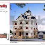 Mẫu kiến trúc biệt thự lâu đài 3 tầng mặt tiền rộng tại Quảng Ninh sh btld 0027