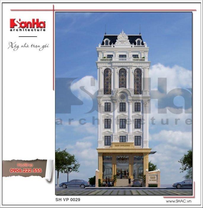 Mẫu kiến trúc tòa nhà văn phòng kiến trúc Pháp tại Sài Gòn sh vp 0029