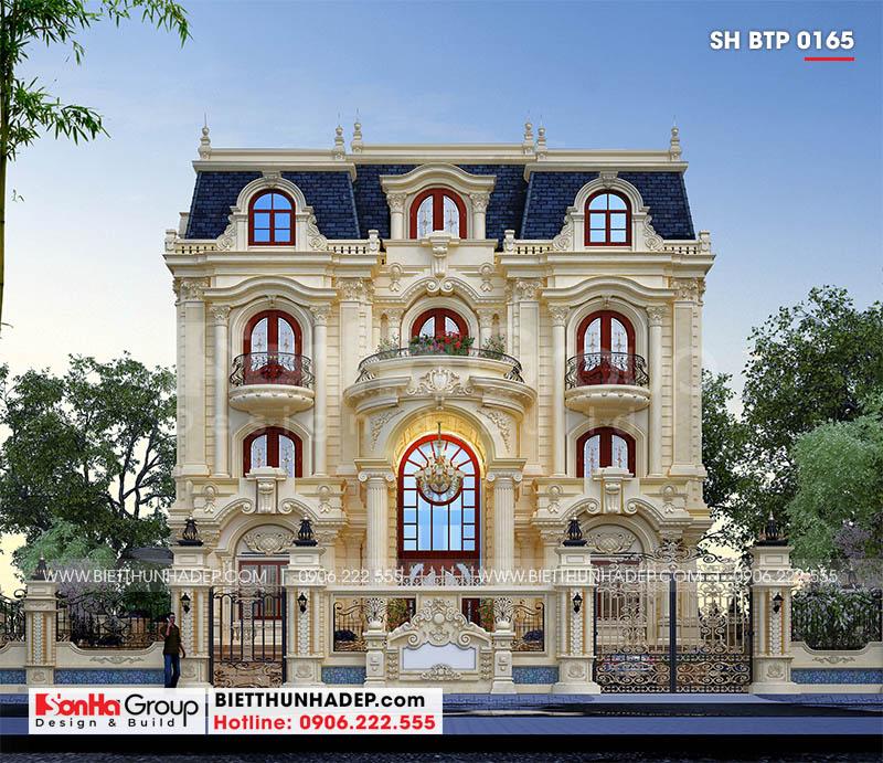 Mặt tiền 15,7 trong thiết kế sang trọng biệt thự tân cổ điển đẹp tại Đà Nẵng