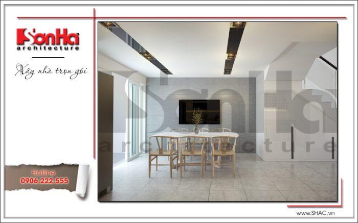 2 Mẫu nội thất phòng bếp ăn nhà phố hiện đại đep tại hà nội sh nod 0174