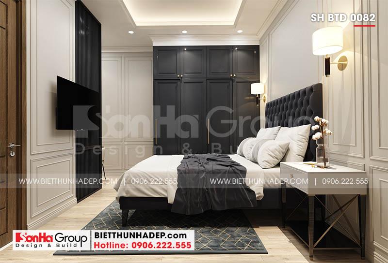 Phòng ngủ 2 trong biệt thự hiện đại SH BTD 0082
