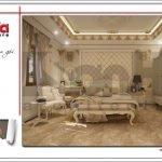 Mẫu nội thất phòng ngủ 1 biệt thự lâu đài 3 tầng mặt tiền rộng tại Quảng Ninh sh btld 0027