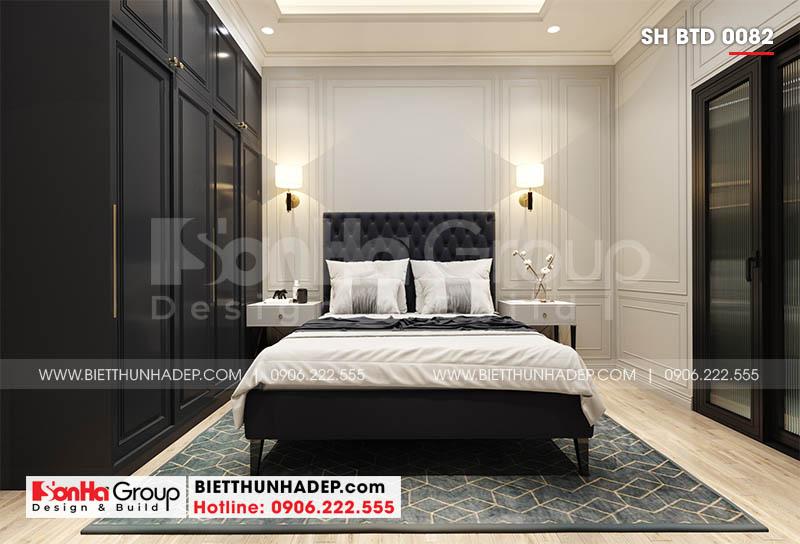 Nội thất phòng ngủ biệt thự mặt tiền 8m tại Hải Phòng