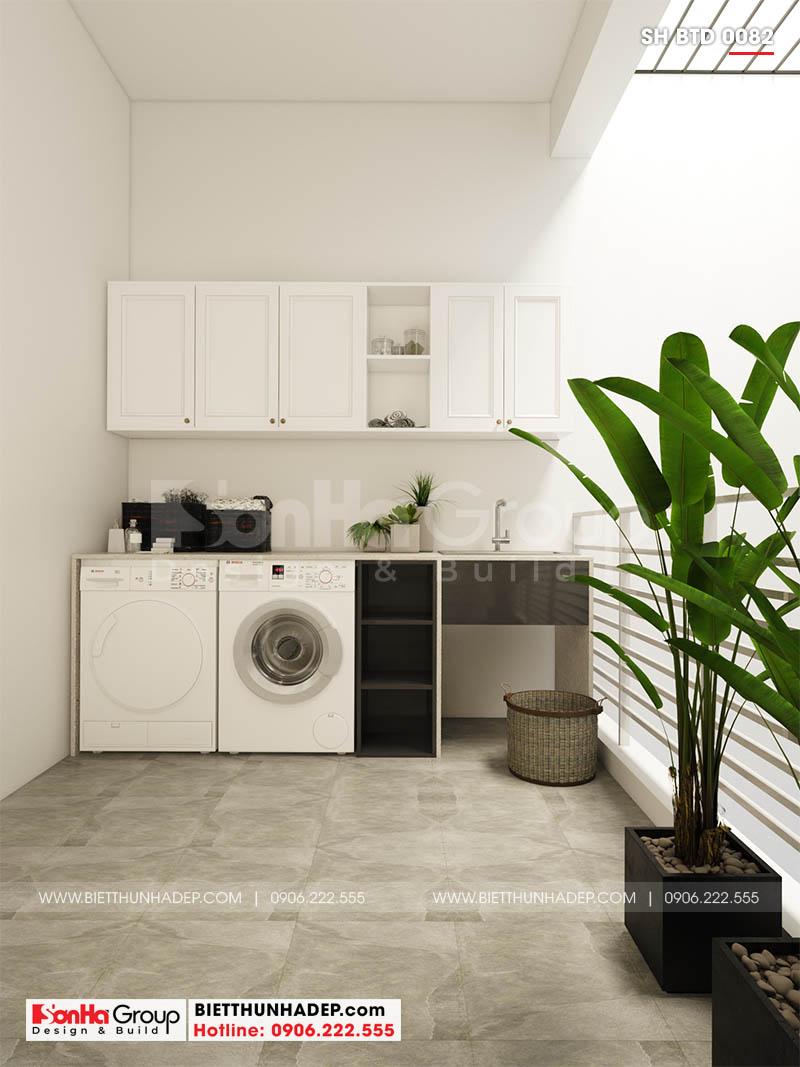 Phòng giặt trong biệt thự mặt tiền 8m
