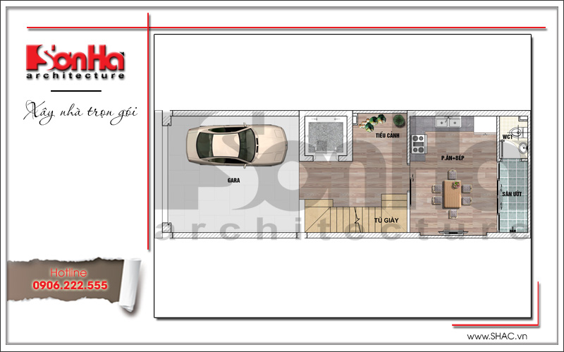 Trình làng mẫu thiết kế nhà phố hiện đại 5 tầng mặt tiền 5m độc đáo tại Hà Nội – SH NOD 0174 10