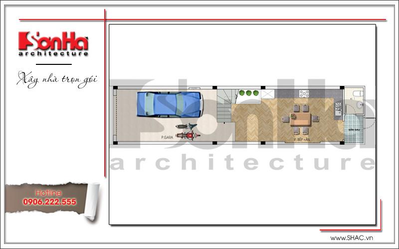 Mẫu thiết kế nhà ống kiến trúc Pháp 4 tầng mặt tiền hẹp tại Hải Phòng – SH NOP 0145 3
