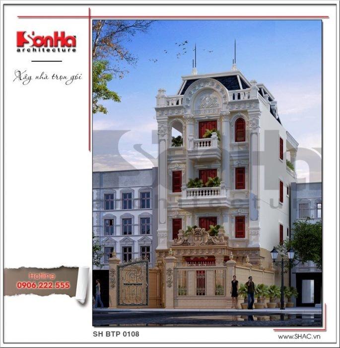 Công trình xây dựng thiết kế và thi công biệt thự Pháp tại Đắk Nông bởi SHAC