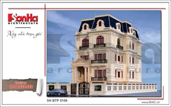 Thiết kế biệt thự Pháp đẹp tại Sài Gòn sh btp 0109