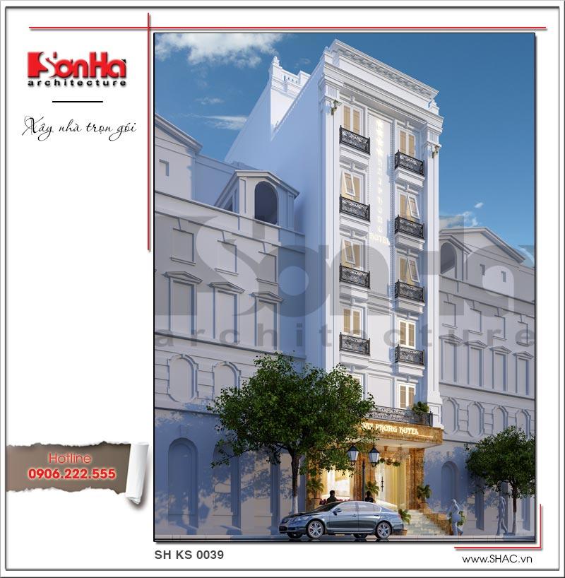 Mẫu thiết kế khách sạn mini kiến trúc Pháp đẹp tại Hải Phòng – SH KS 0039 2