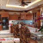 3 Ảnh thực tế thiết kế nội thất phòng bếp ăn biệt thự cổ điển tại sài gòn sh btp 0109