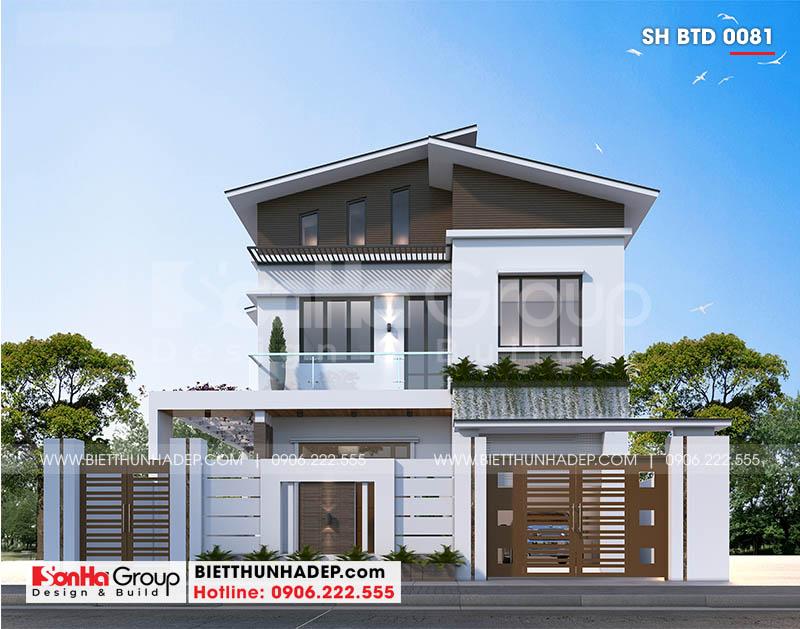 Thiết kế biệt thự hiện đại mặt tiền 10,3m tại Ninh Bình