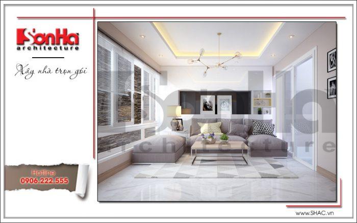 3 Thiết kế nội thất phòng khách nhà ống hiện đại đẹp tại hà nội sh nod 0174