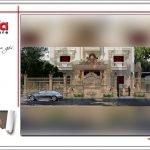Thiết kế tường rào biệt thự lâu đài 3 tầng mặt tiền rộng tại Quảng Ninh sh btld 0027