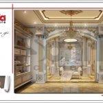 Nội thất wc phòng ngủ vip biệt thự lâu đài 3 tầng mặt tiền rộng tại Quảng Ninh sh btld 0027