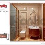 Thiết kế nội thất wc tầng 1 biệt thự lâu đài 3 tầng mặt tiền rộng tại Quảng Ninh sh btld 0027