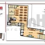 Mặt bằng công năng tầng 2 khách sạn hiện đại tại Đà Nẵng SH KS 0038