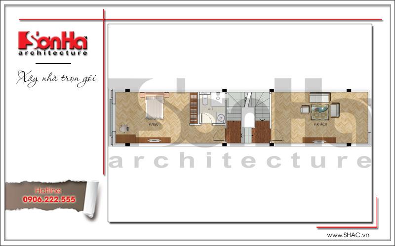 Mẫu thiết kế nhà ống kiến trúc Pháp 4 tầng mặt tiền hẹp tại Hải Phòng – SH NOP 0145 4