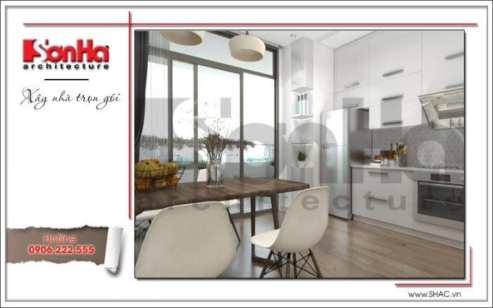 thiết kế nội thất phòng bếp ăn chung cư tại hà nội
