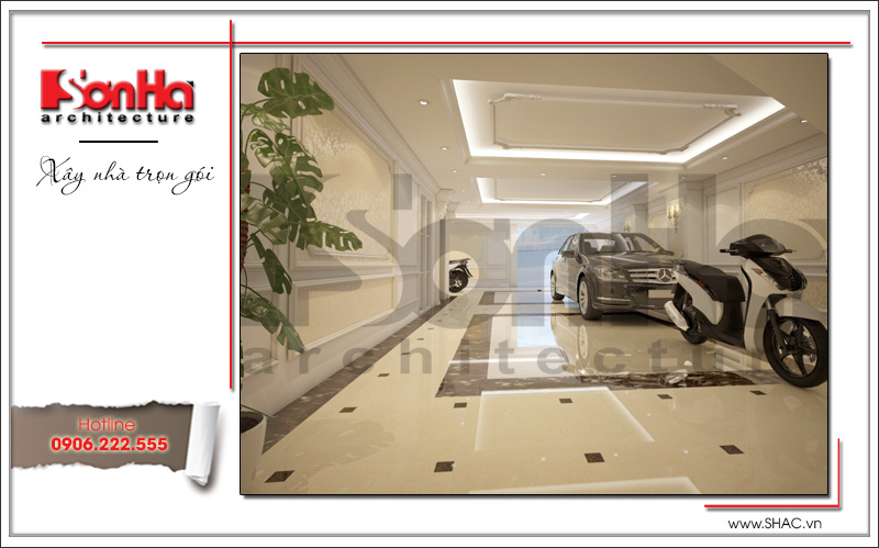 Mẫu thiết kế khách sạn mini kiến trúc Pháp đẹp tại Hải Phòng – SH KS 0039 11