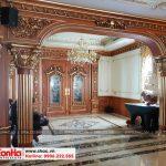 4 Ảnh thực tế nội thất sảnh tầng 1 biệt thự pháp cổ điển tại sài gòn sh btp 0109