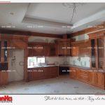 4 Ảnh thực tế thi công nội thất phòng bếp biệt thự pháp cổ tại sài gòn sh btp 0109