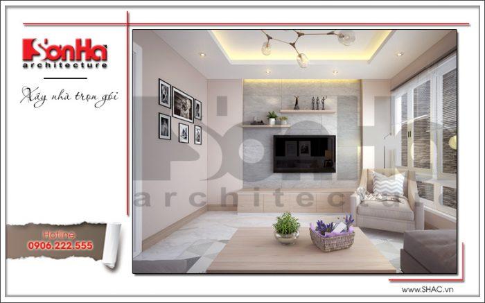4 Mẫu nội thất phòng khách nhà ống hiện đại tại hà nội sh nod 0174