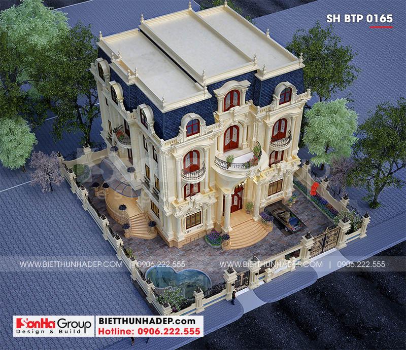 Thiết kế ngoại thất biệt thự tân cổ điển 4 tầng tại Đà Nẵng