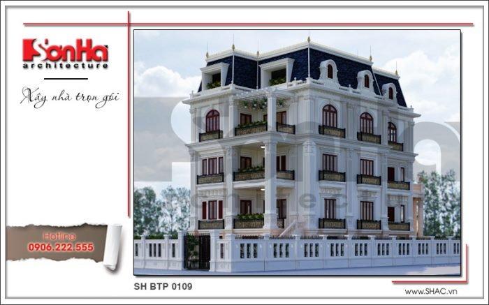 Mẫu biệt thự Pháp đẹp tại Sài Gòn sh btp 0109