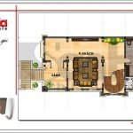 Mặt bằng công năng tầng 2 biệt thự lâu đài 2 tầng đẹp tại Lạng Sơn sh btld 0028