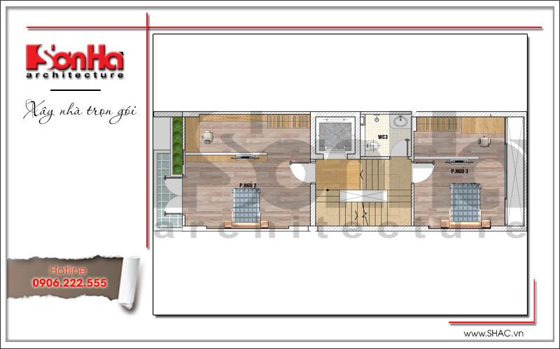 Trình làng mẫu thiết kế nhà phố hiện đại 5 tầng mặt tiền 5m độc đáo tại Hà Nội – SH NOD 0174 12