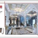 Thiết kế sảnh nhà hàng 2 tầng kiến trúc Pháp sang trọng tại Phú Quốc sh bck 0045