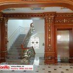 5 Ảnh thực tế nội thất sảnh thang biệt thự cổ điển pháp tại sài gòn sh btp 0109
