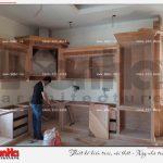 5 Ảnh thực tế thi công nội thất phòng bếp biệt thự tân cổ điển pháp tại sài gòn sh btp 0109