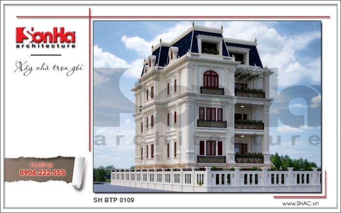 Mẫu thiết kế biệt thự Pháp đẹp tại Sài Gòn sh btp 0109