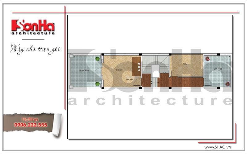 Mẫu thiết kế nhà ống kiến trúc Pháp 4 tầng mặt tiền hẹp tại Hải Phòng – SH NOP 0145 6