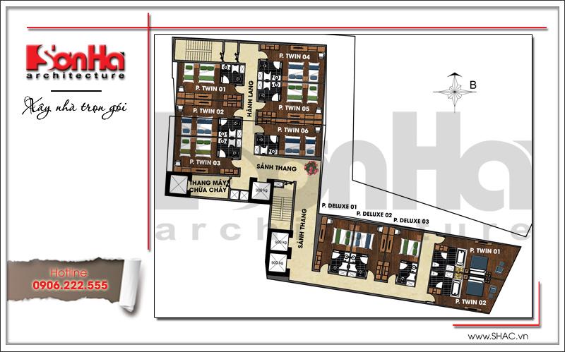 Ra mắt mẫu thiết kế khách sạn hiện đại 15 tầng sang trọng tại Đà Nẵng – SH KS 0038 6