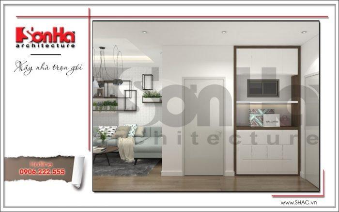 mẫu nội thất hành lang chung cư hiện đại tại hà nội