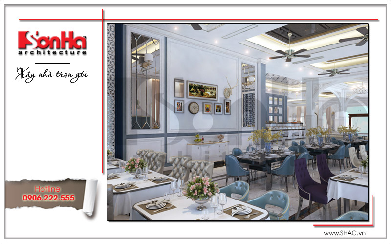 Ra mắt mẫu thiết kế nhà hàng kiến trúc Pháp sang trọng tại Phú Quốc – SH BCK 0045 6