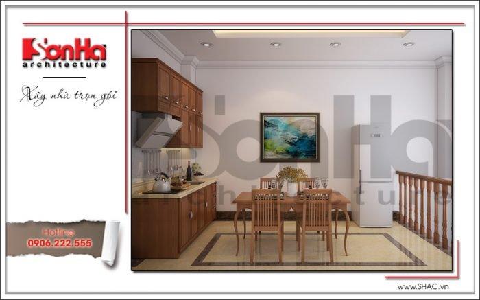 Thiết kế phòng bếp khách sạn mini kiến trúc Pháp tại Hải Phòng sh ks 0039