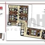 Mặt bằng công năng tầng 6 đến 11 khách sạn hiện đại tại Đà Nẵng SH KS 0038