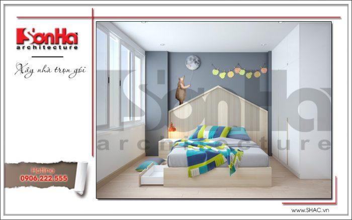 7 Thiết kế nội thất phòng ngủ 3 nhà ống hiện đại tại hà nội sh nod 0174