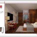 Thiết kế phòng ngủ đẹp khách sạn mini kiến trúc Pháp tại Hải Phòng sh ks 0039
